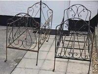 Pair of Antique Victorian cots cast iron
