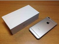 iPhone 6 16GB Silver in box with cases etc...