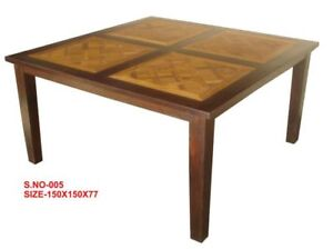 "70% OFF Amazing 60"" square solid wood dining table"