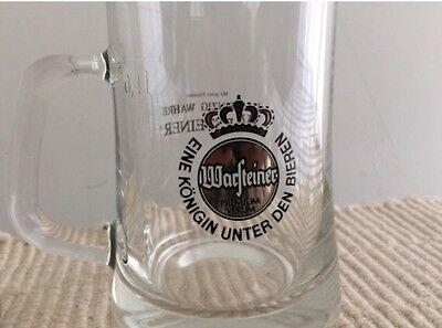 German Beer Stein WARSTEINER Eine Konigin Unter Den Bieren German .4L Glass