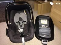 Maxi cosi pebble car seat & isofix base