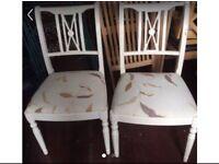 Pair of shabby chic chairs