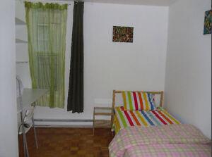 Chambre dans grand appartement métro Frontenac