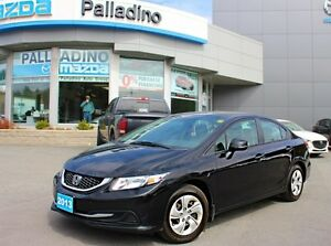 2013 Honda Civic Sdn - LOW KM + ACCIDENT FREE + 5 SPEED MANUAL +