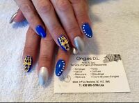 Pose d'ongles a UV gel extensions 35$
