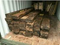 Railway sleepers used hardwood X 200 cheap look