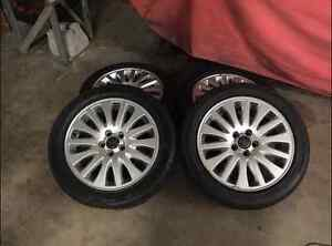 "17"" rims and tires in great shape"