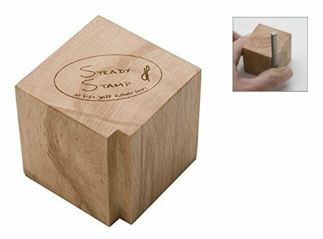 Steady Stamp Holder Block Jewelry Making Metal Marking Round Square Stamp Tool