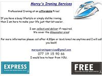 Marcy's Ironing Services GLOUCESTER at an affordable Price!
