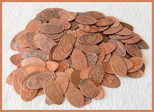 LOT OF 100 ELONGATED PRESSED PENNIES / ZOO'S, AMUSEMENT PARKS, PLACES, MUCH MORE