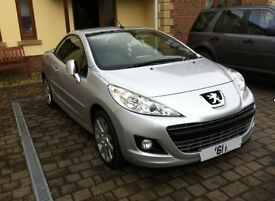 Peugeot 207cc - Convertible - Full service History, Low Milage, no previous owners, 1 year MOT