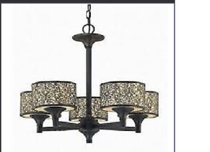 Brand New -    5 Light Elegant Melosa  Chandelier - Easy Lite
