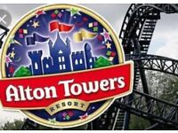 2 x Alton Towers tickets 21st May