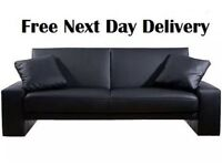 Amazing Cuba Supra Sofa Bed Futon Black Quality Faux Leather