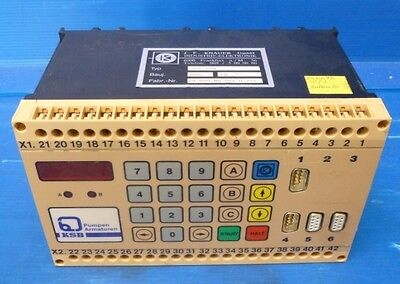 Ksb Pump Control J.f Knauer Upc-pvr Sps Display Control Unit Controller