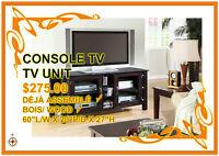 Liquidation:Consoles TV en bois-Assemblees/ TV units liquidation