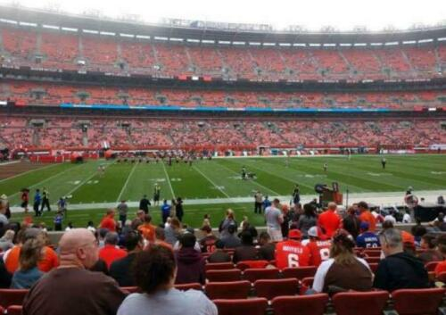 (2) Cleveland Browns vs Pittsburgh Steelers Tickets Section 106 Row 17. 10/31/21