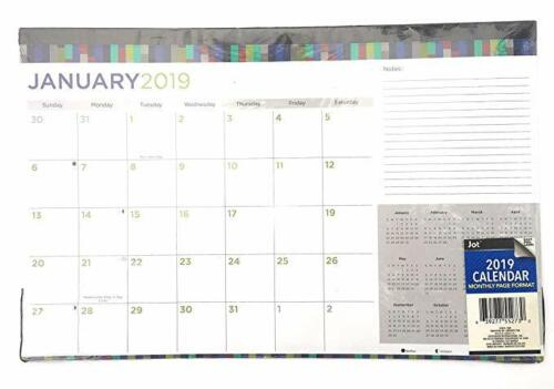 2019 Monthly Desk Calendar GREAT VALUE!
