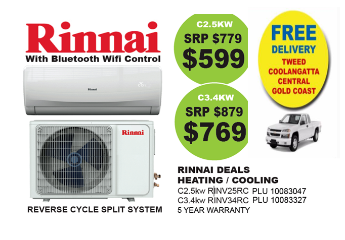 ef411abfeca RINNAI AIR CONDITIONER - ALL MODELS - CHEAPEST ANYWHERE R  47 C S  ...