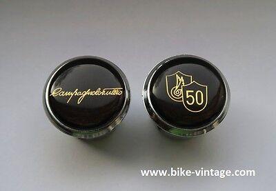 50th Anniversary Gold (Tulio Campagnolo 50th Anniversary Lenkerstopfen Handlebar Plugs gold endstopfen)