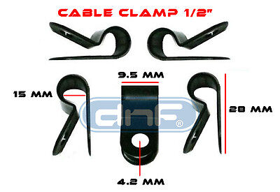 100 Pack 12 Black Nylon Uv Weather Resistant Cable Clamp - Ships Free Today