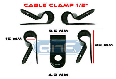 500 Pack 12 Black Nylon Cable Clamp Uv Weather Resistant - Ships Free Today