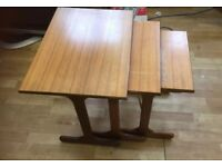 Vintage retro mid century g-plan nest of tables