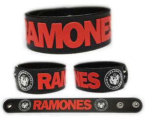 RAMONES-Rubber-Bracelet-Wristband-Johnny-Dee-Dee-Joey-Tommy