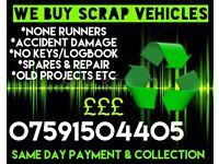 Scrap Vehicles Wanted today! £50-£300!
