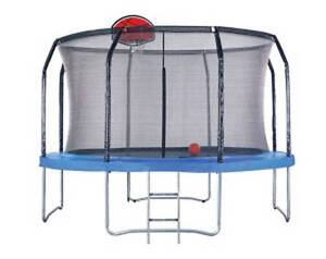 14ft Trampoline Round Safety Net+Spring Pad+Ladder Basketball set Condell Park Bankstown Area Preview