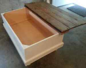Custom Chest Style Coffee Table with Rustic Wood Top Peterborough Peterborough Area image 3