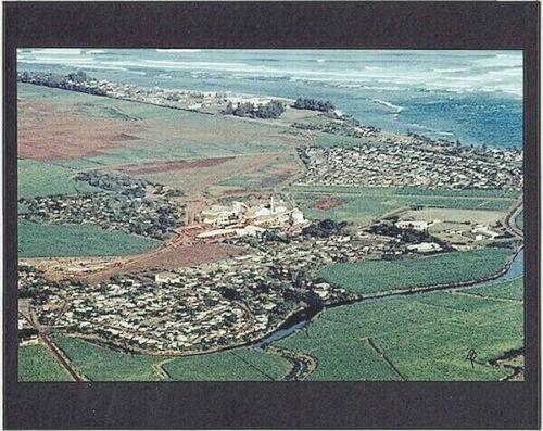 "WAIALUA SUGAR MILL AERIAL 1974 PHOTO on 8x10"" MATT INITIALED BY PHOTOGRAPHER"
