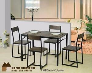 Brand-New Dinnete Apartment Size Dining Set -Table and 4 Chairs (#4164)