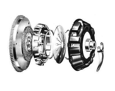 Flywheel (on the left) & clutch.