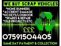 Scrap Cars/Vans/4x4 Wanted!