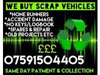 We Buy Scrap Vehicles! £50-£300!