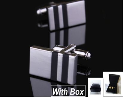 NEW High Quality Mens Handmade Steel Cufflinks With Box Rectangle Wembley Cambridge Area Preview