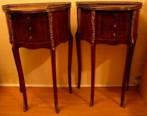 antique petite tables marquetry vers 1920 style louis xv chevet