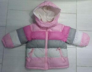 The Children's Place Toddler Girls Pink Puffer Winter Jacket 18M