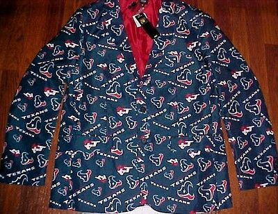 Houston Texans NFL AFC Team Apparel Men Blue Motif Logo Sport Jacket M (44) New