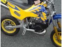 Yellow mini moto