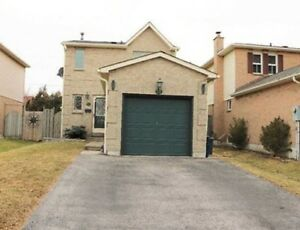 Upper portion of the detached house for rent in central Ajax.