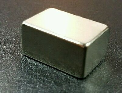 Neodymium Cube Magnet N52 Grade Super Strong Rare Earth Block 34 X 12 X 38