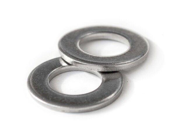 100PCS Stainless Steel Washers Metric Flat Washer Screw Kit M3 M4 M5 M6 M8 NWUS