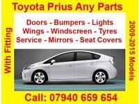 Toyota prius plus hybrid plugin door mirror bumper light catalytic rent pco breaking mats battery