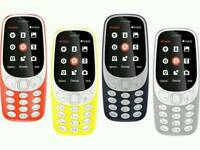 Open To All Networks Brand New Sealed Orignal Nokia 3310 3G 2017 Unlocked Mostly All Colours