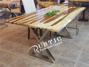 Rose wood  modern solid wood table - Rustic Furniture Outlet