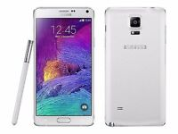 White Samsung Note 4 , 32 gb. Unlocked