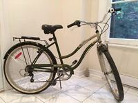 "Beautiful 26"" Raleigh Boardwalk Women's Bike with Helmet & Lock"