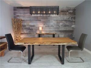 """Table à manger en acacia 72"""" x 40"""" de 1"""" d'épaisseur"""